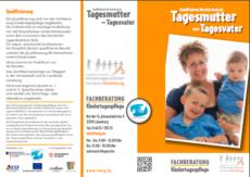 Faltblatt Qualifizierung als Tageseltern